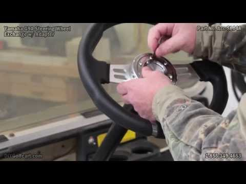 Yamaha Golf Cart Steering Wheel and Adaptor | How to Install