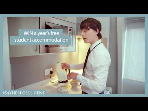 WIN! Free student accommodation for a whole year! #SayHelloStudent