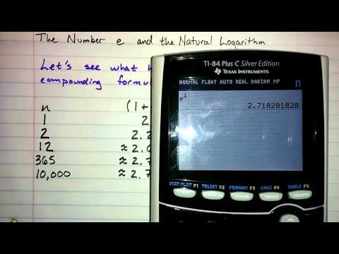 6.5.1 - The Number e and the Natural Logarithm