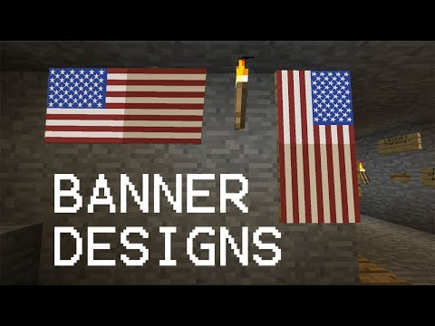 3 Cool Banner Designs In MINECRAFT !