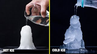 HOT ICE VS COLD ICE EXPERIMENT / AMAZING SCIENCE EXPERIMENTS