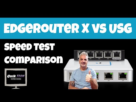 EdgeRouter X vs USG Speed Test