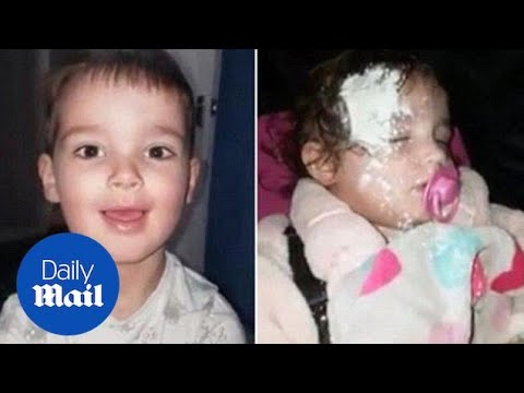Young boy covers the floor and his sister in talcum powder - Daily Mail
