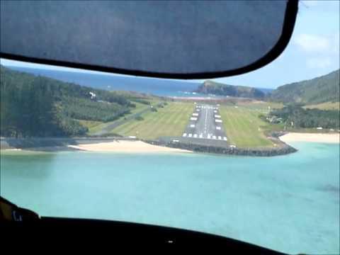 Lord Howe Island Landing Runway 10