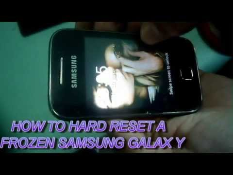 Hard resetting your Galaxy Y android phone
