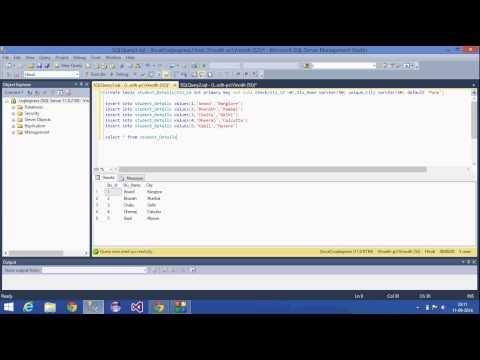 5.SQL Server Tutorial - Hindi(Unique,Check,Default constraints)