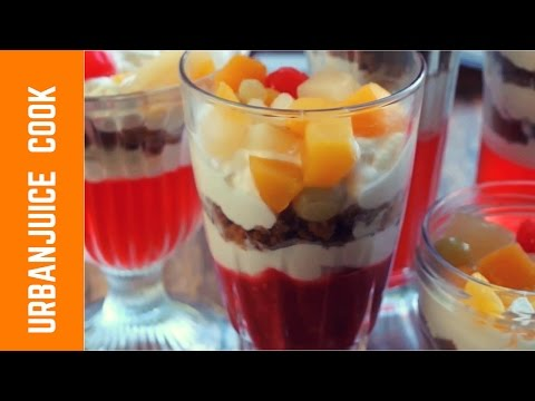 How To Make Easy Jello,Jelly And Fruit Puree Dessert