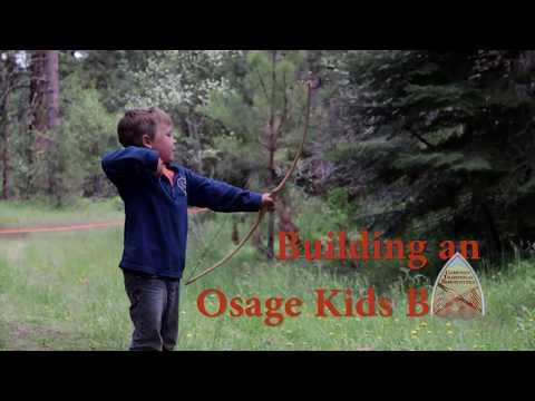 Building a kids primitive recurve bow from Osage Orange