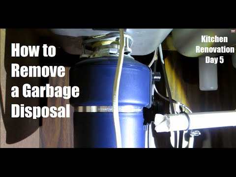 How to remove a Garbage Disposal and Under-sink plumbing - Day 5   DIY Distress