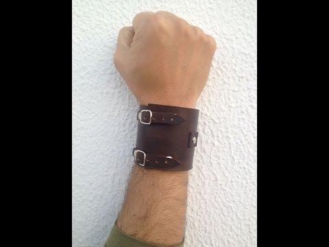 How to make a leather bracelet/step by step/how i make mine