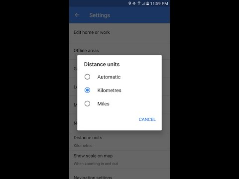 How To Change Google Maps Distance Units On Samsung Galaxy S7/Edge/S6/Note5/4
