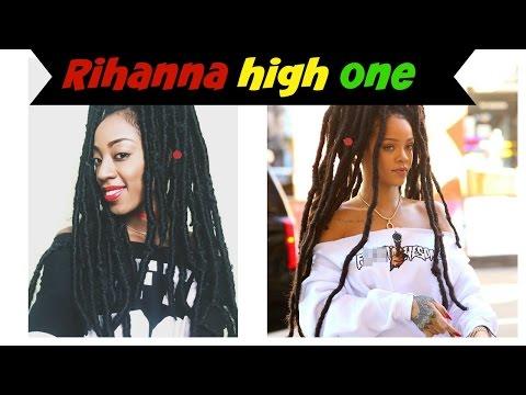 Rihanna high one/faux locs