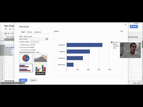 Creating Bar Graph in Google Spreadsheets
