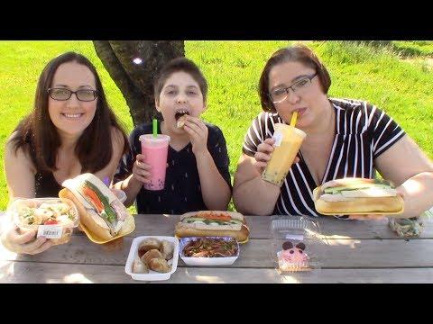 Picnic | Gay Family Mukbang (먹방) - Eating Show