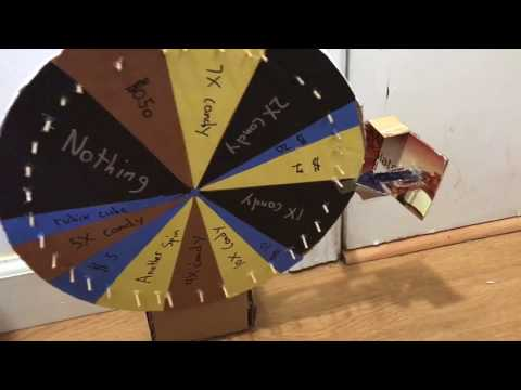 How to make a spin to win wheel out of cardboard