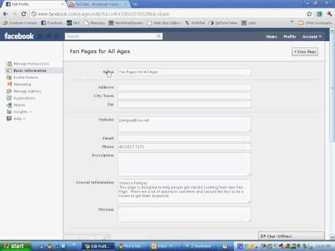 Official Way to Change Your Facebook Fan Page Name