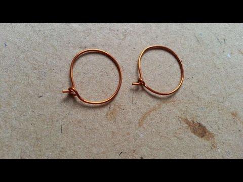 How To Make Simple Wire Hoop Earrings - DIY Style Tutorial - Guidecentral