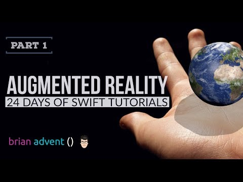 3D Earth in Augmented Reality with ARKit and SceneKit - 4/24 Days of Swift Tutorials 🎄