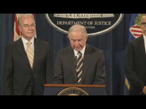 Attorney General Sessions and HHS Secretary Price Announce National Health Care Fraud Takedown