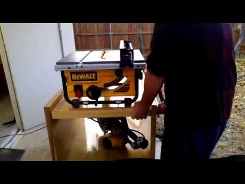 Flip  top table for saw