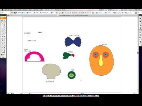 Adobe Illustrator - Drawing Mr. MelonHead Part 2