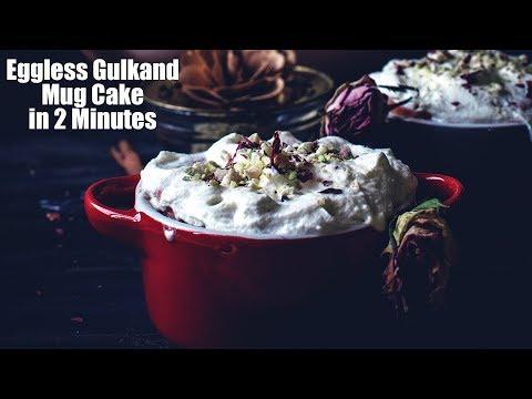 Eggless Gulkand Mug Cake in 2 Minutes | Rose Mug Cake Recipe | mug cake tasty | eggless mug cake