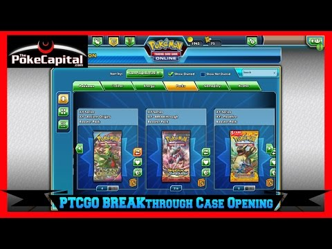 Pokemon TCG Online XY BREAKthrough Booster Case Opening of 216 Booster Packs