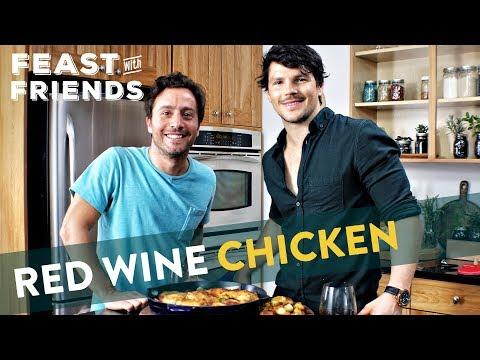 Red Wine Chicken Skillet with Friends | Genius Kitchen