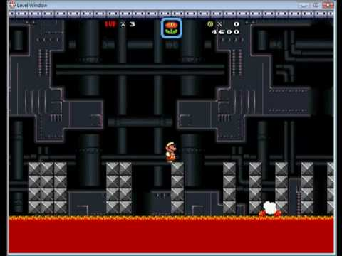 Custom Megaman Levels in SMBX-Warp Man's Stage.