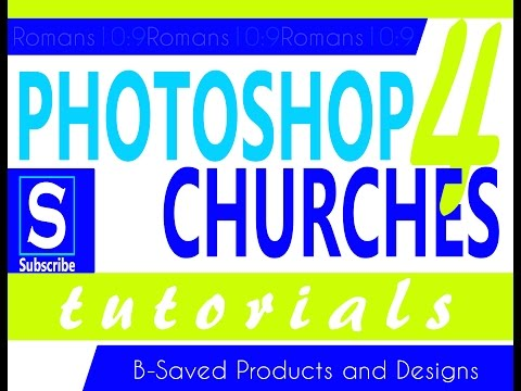 Photoshop Tutorial for Churches-  Save the Date Church Flyer