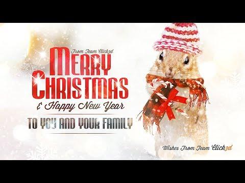 Merry Christmas poster design | Photoshop Tutorial | click3d