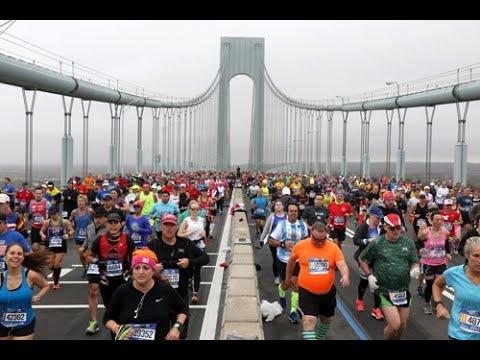 2017 NYC Marathon Time Lapse at the Verrazano Bridge