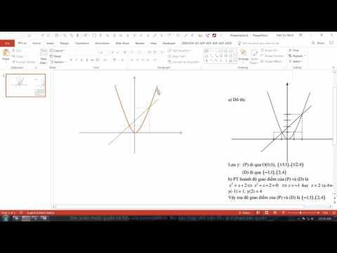HỌC SLIDE POWERPOINT - P2 KỸ THUẬT VẼ HÌNH  -.2.14 Vẽ lại SGK p2, đường parapol