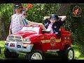 New Sky Kids Super Episode 6 - Kids Police Car, The Fire Engine, The Stealer & Twins Kids Nerf War
