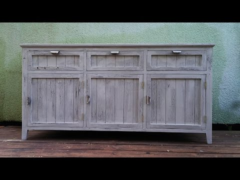 The making of a vintage style dresser