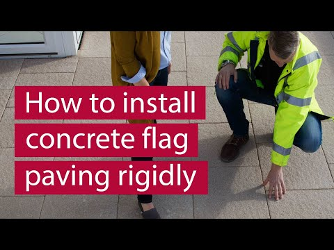 How to Install Concrete Flag Paving Rigidly | Commercial Paving | Marshalls