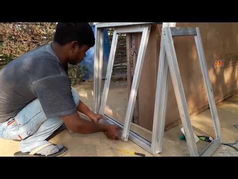 Making aluminium slaiding window with mosqito net