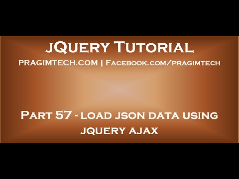load json data using jquery ajax