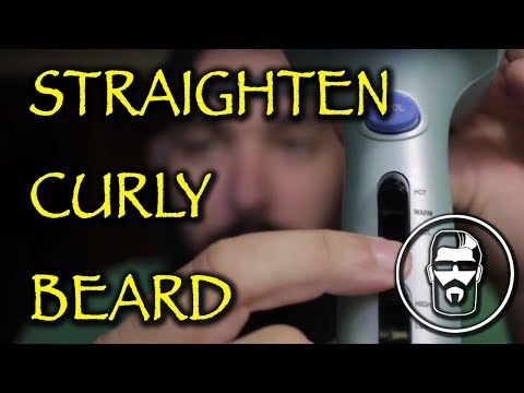 How to Straighten Curly Under Beard