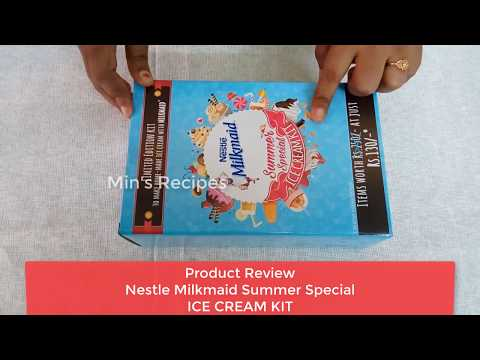Nestle Milkmaid Summer Special Ice Cream Kit Review Unboxing  Min's Recipes