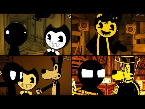 STICKMAN IN Bendy And The Ink Machine Animations Compilation 8   BATIM Animation