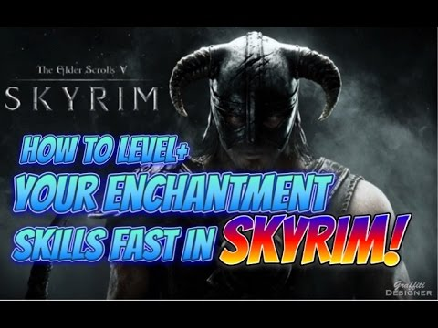 How to level up your enchantment skill very fast to 100 in Skyrim Remastered Edition!