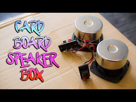 DIY Cardboard Speaker Box Build