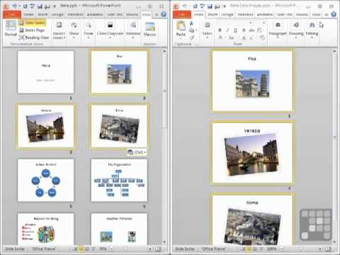Powerpoint 2010 Tutorial - How to Insert Slides from Another Presentation