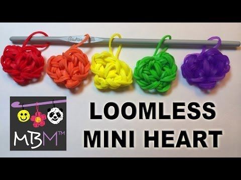 Heart Charm Made Without the Rainbow Loom