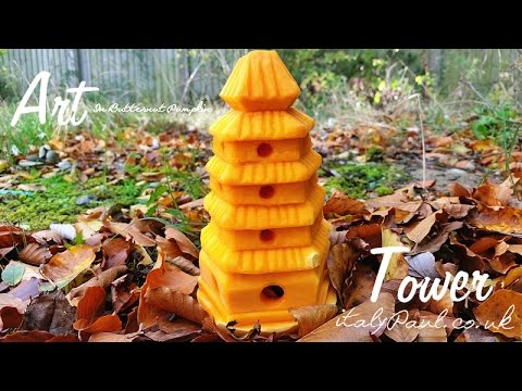 Art In Butternut Pumpkin Tower | How to Carve a Pumpkin | Vegetable Carving Garnish - Italypaul