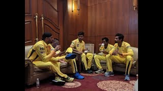 MSD session and CSK dressing room....