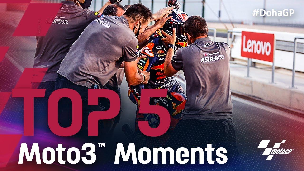 Top 5 Moto3™ Moments |2021 #DohaGP