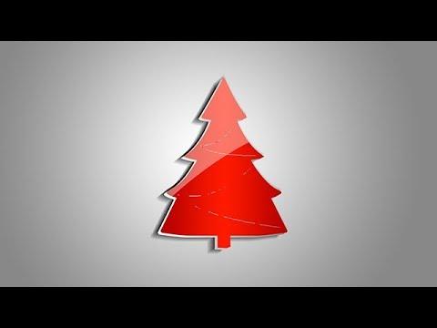 How to Make Christmas Tree Greeting Card | Photoshop Tutorial