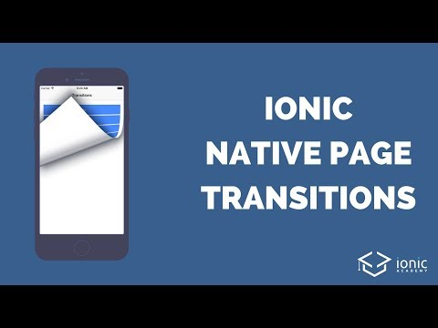 Ionic Native Page Transitions for iOS and Android